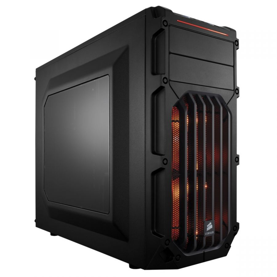 Корпус Corsair Carbide SPEC-03 Orange LED Black (CC-9011054-WW) без БП
