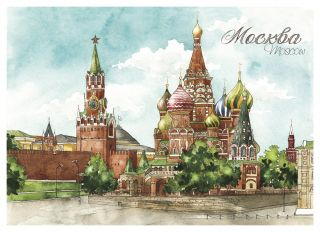 Postcard Moscow