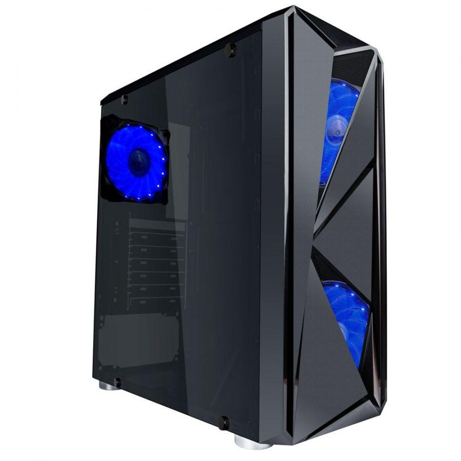 Корпус 1stPlayer F4-A1 Blue LED без БП