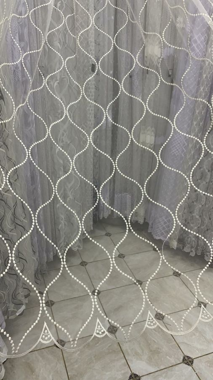 Тюль вышивка на сетке Турция 043