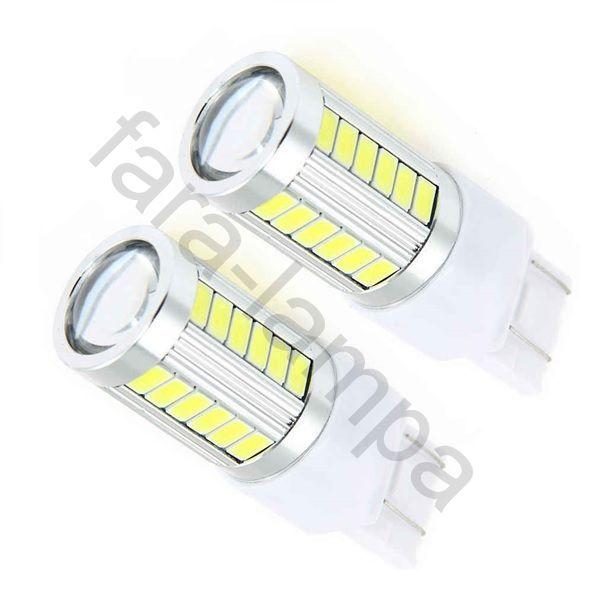 Автомобильные светодиодные лампочки в поворотники оранжевые T20-33-5630
