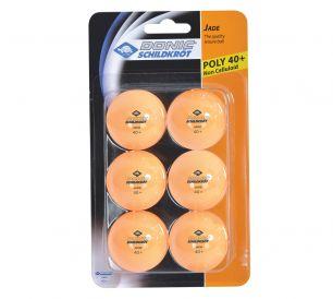 Мячики для настольного тенниса Donic Jade 40+, 6 шт, оранжевый