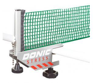 Сетка для настольного тенниса с креплением Donic Stress серый/зеленый