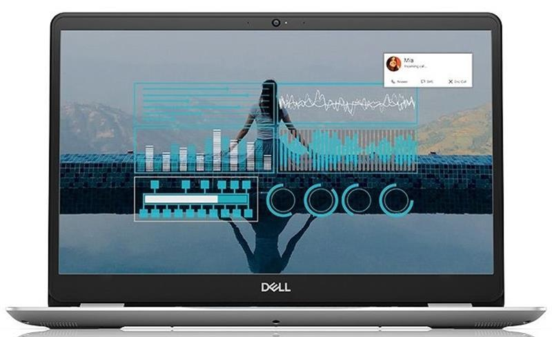 "Ноутбук Dell Inspiron 5584 (5584Fi34H1HD-WPS); 15.6"" FullHD (1920x1080) TN LED матовый / Intel Core i3-8145U (2.1 - 3.9 ГГц) / RAM 4 ГБ / HDD 1 ТБ / Intel UHD Graphics 620 / нет ОП / LAN / Wi-Fi / BT / веб-камера / Windows 10 Home / 1.95 кг / серебри"