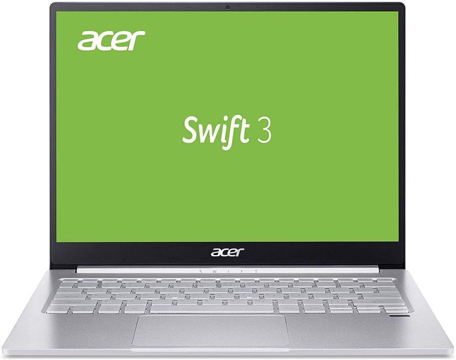 "Ноутбук Acer Swift 3 SF313-52 (NX.HQWEU.008); 13.5"" QHD (2256x1504) IPS LED глянцевый / Intel Core i5-1035G4 (1.1 - 3.7 ГГц) / RAM 8 ГБ / SSD 256 ГБ / Intel Iris Plus Graphics G4 / без ОП / Wi-Fi / BT / веб-камера / Linux / 1.2 кг / серебристый / под"