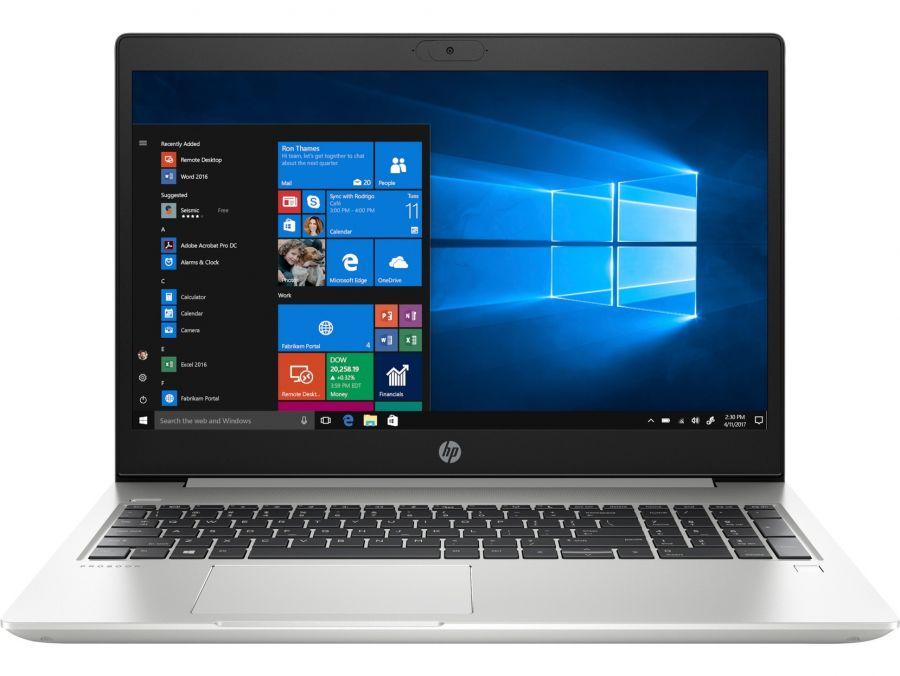 """Ноутбук HP ProBook 450 G7 (6YY28AV_V12); 15.6"""" FullHD (1920х1080) IPS LED глянцевый антибликовый / Intel Core i7-10510U (1.8 - 4.9 ГГц) / RAM 8 ГБ / SSD 512 ГБ / UHD Graphics / нет ОП / LAN / Wi-Fi / BT / веб-камера / DOS / 2.0 кг / серебристый / ска"""