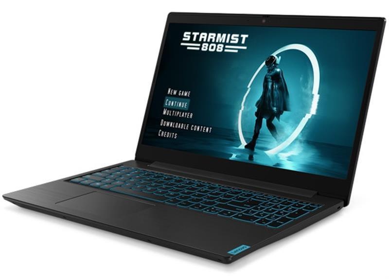 "Ноутбук Lenovo Ideapad L340-15IRH Gaming (81LK0198RA); 15.6"" FullHD (1920x1080) IPS LED матовый / Intel Core i5-9300HF (2.4 - 4.1 ГГц) / RAM 8 ГБ / SSD 256 ГБ / nVidia GeForce GTX1650, 4 ГБ / нет ОП / LAN / Wi-Fi / Bluetooth / веб-камера / DOS / 2.19"