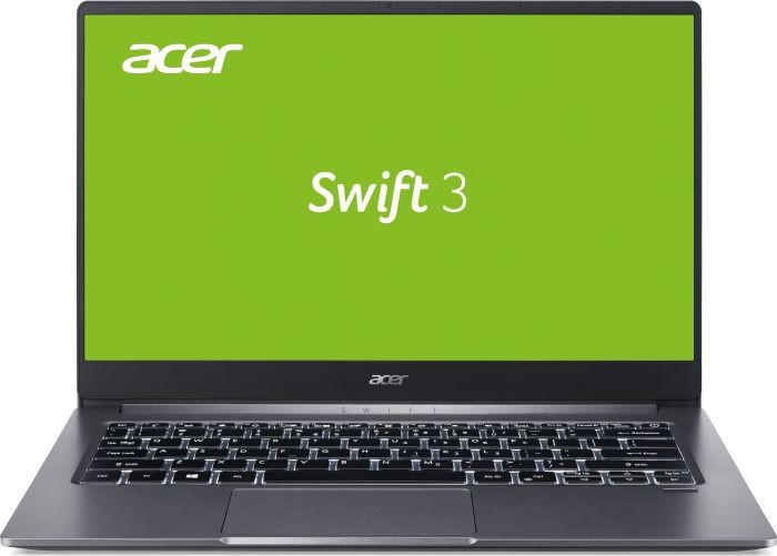 "Ноутбук Acer Swift 3 SF314-57G (NX.HUKEU.005); 14"" FullHD (1920x1080) IPS LED глянцевый / Intel Core i7-1065G7 (1.3 - 3.9 ГГц) / RAM 16 ГБ / SSD 1 ТБ / nVidia GeForce MX350, 2 ГБ / без ОП / Wi-Fi / BT / веб-камера / Linux / 1.19 кг / серый / подсветк"