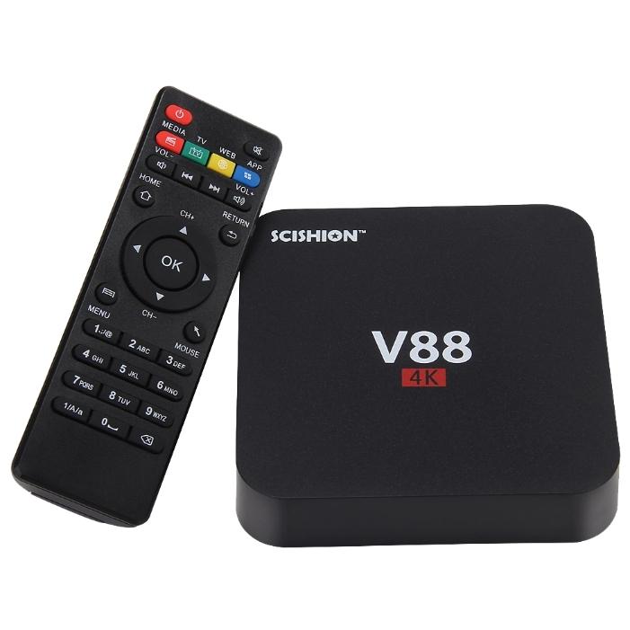 Смарт TV приставка SCISHION V88 4K 1/8 Гб