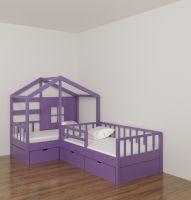 Кровать Домик угловой Fairy Land №37F (для двоих детей)