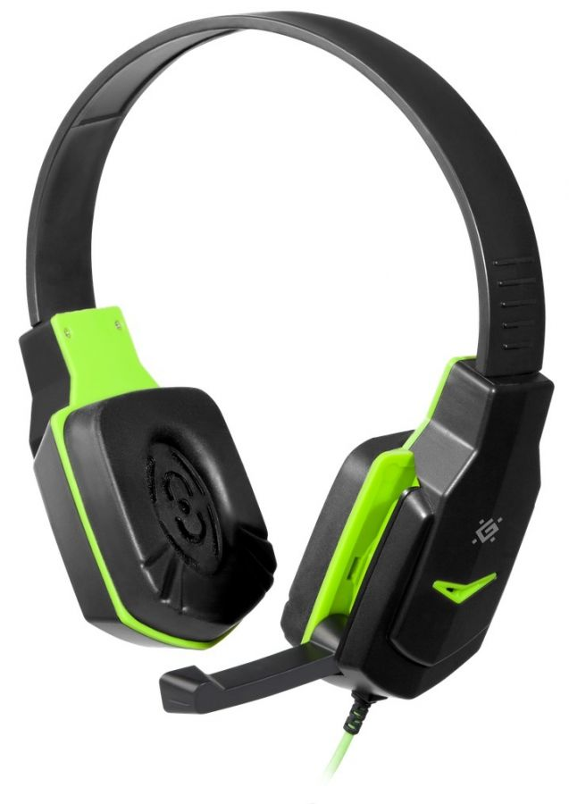 Гарнитура Defender Warhead G-320 Black/Green (64032)