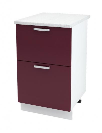 Шкаф нижний с двумя ящиками Глория ШН2Я 500