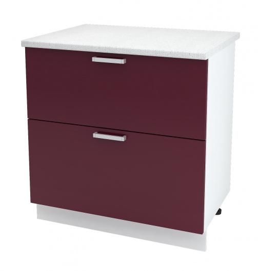 Шкаф нижний с двумя ящиками Глория ШН2Я 800
