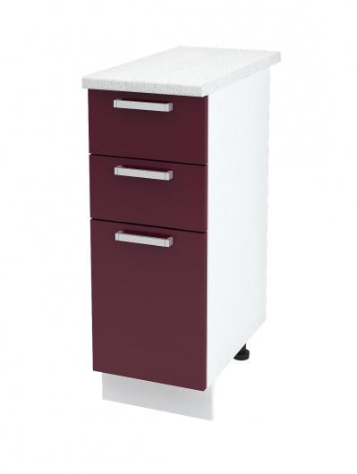 Шкаф нижний с тремя ящиками Глория ШН3Я 300
