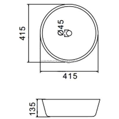 Раковина для ванной белая к столешнице GT105