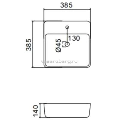 Раковина на столешницу Gappo GT205