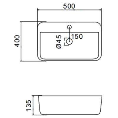 Раковина на столешницу Gappo GT405