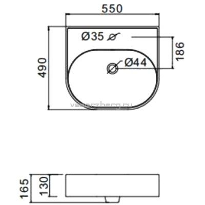 Раковина на столешницу Gappo GT501