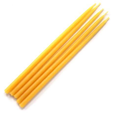 Свеча магическая 15х0,5см, цвет желтый
