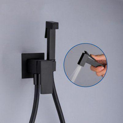 Гигиенический смеситель Frap F7506-6 Черный