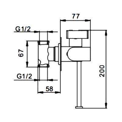 Гигиенический душ со смесителем F7512
