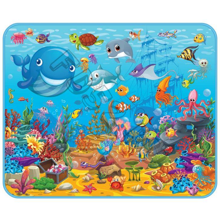 Развивающий коврик  Подводный мир 130х160х0,5см