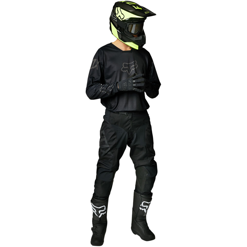 Fox 2021 180 Revn Black джерси и штаны для мотокросса