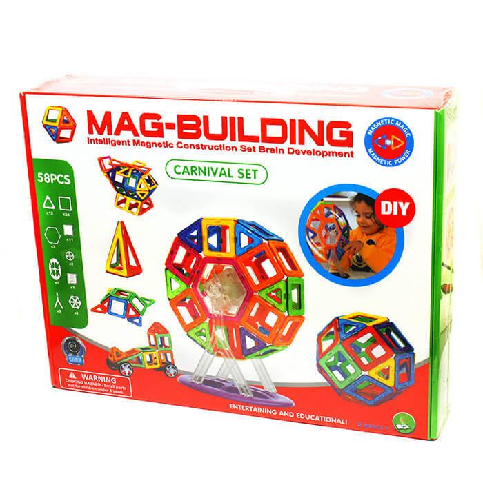 Магнитный конструктор MAG BUILDING, 58 деталей