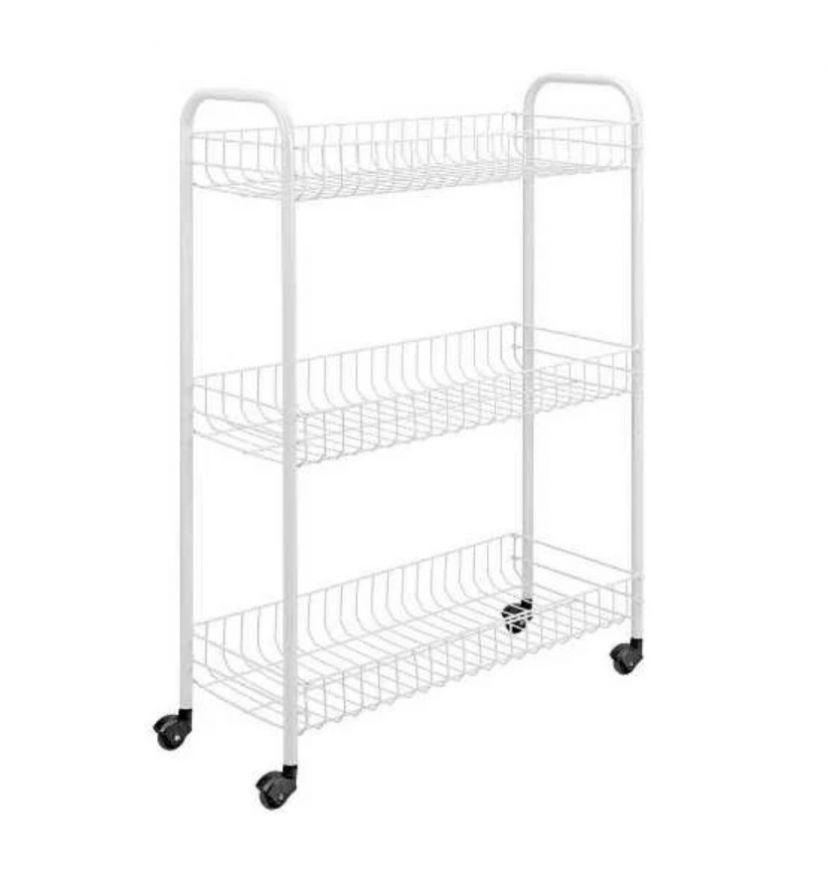Трёхуровневая этажерка на колёсиках Collect Rack,36х24х63 см