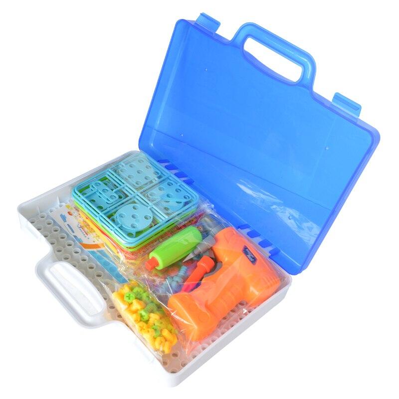 Конструктор - мозаика в чемодане c шуруповертом Magic Plate Puzzle 2 в 1