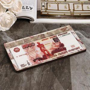 """Купюрница """"5000 рублей"""", плоская, печать, 18,5х9,5х0,8 см 5122195"""