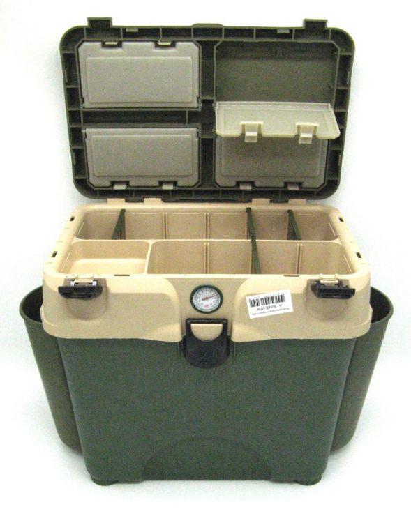 Ящик  зимний  Aelita A-BoxExtra (зелено-бежевый) с 2-мя карманами