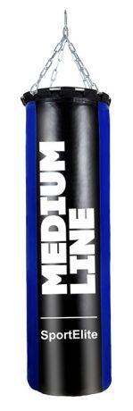 Мешок боксерский SportElite MEDIUM LINE 75см, d-26, 20кг, сине-черный