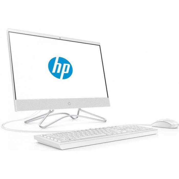 "Моноблок HP 200 G4 (9UG57EA); 21.5"" (1920x1080) IPS / Intel Core i3-10110U (2.1 - 4.1 ГГц) / RAM 8 ГБ / SSD 256 ГБ / Intel UHD Graphics 620 / DVD-RW / LAN / Wi-Fi / Bluetooth / веб-камера / кардридер / Windows 10 Pro / белый / клавиатура + мышь"