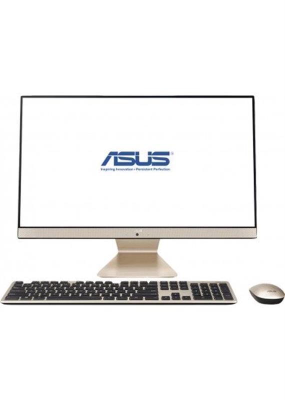 "Моноблок Asus V222FAK-BA072D (90PT02G1-M03620); 21.5"" (1920х1080) IPS / Intel Pentium 6405U (2.4 ГГц) / RAM 8 ГБ / SSD 256 ГБ / Intel HD Graphics / без ОП / LAN / Wi-Fi / Bluetooth / веб-камера / кардридер / Linux / черно-золотистый / клавиатура + мы"