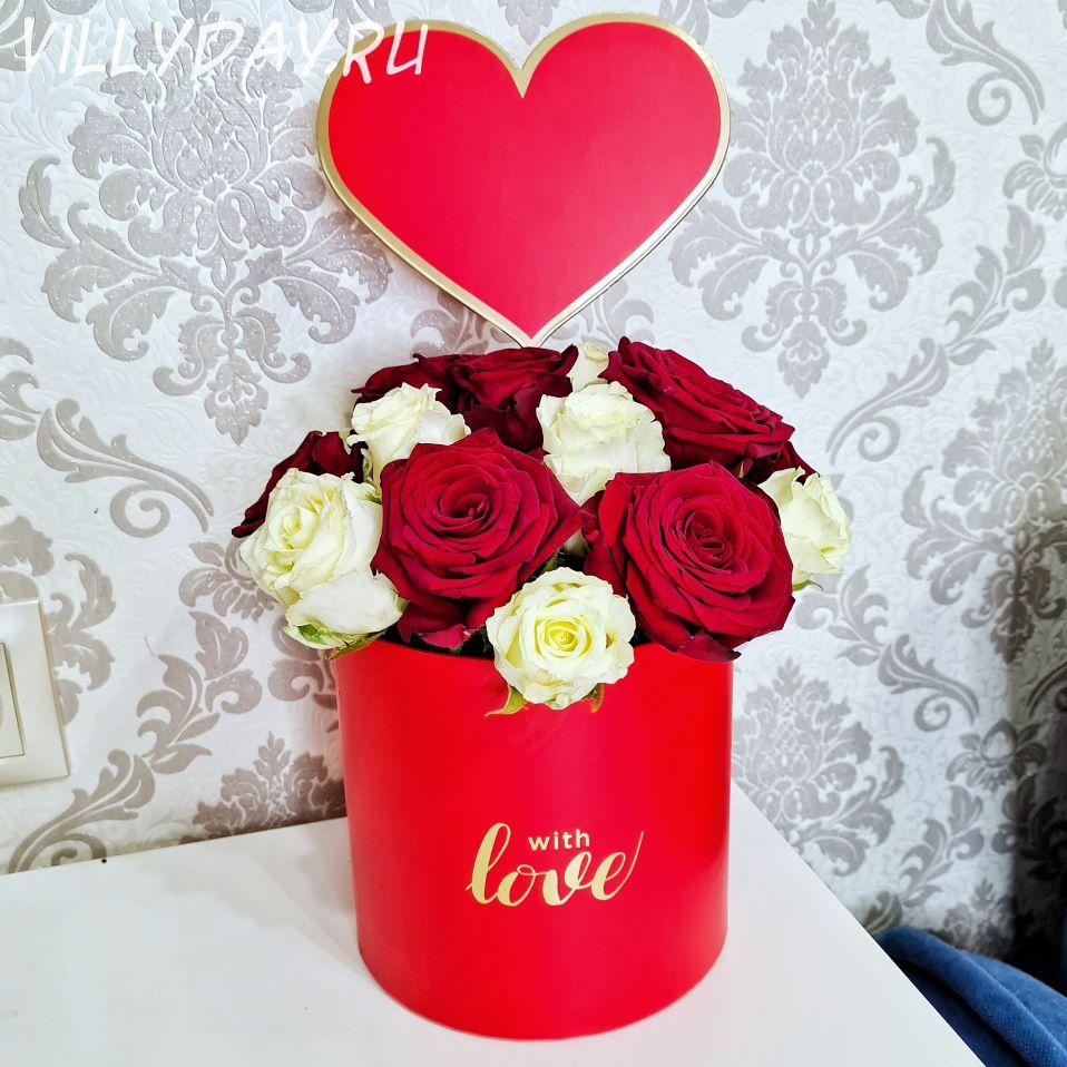 """Коробка с цветами """"Love"""""""