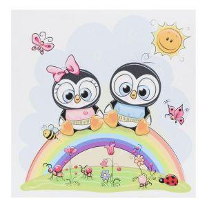 """Картина """"Пингвинчики на радуге"""" 35х35 см 5181108"""