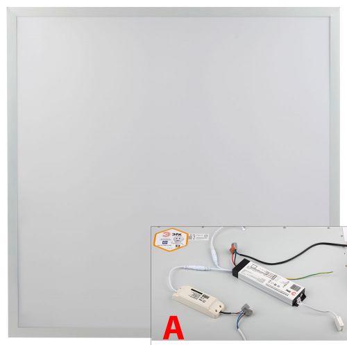 Светодиодная панель тонкая аварийная опал 595х595х8 мм. 6500k