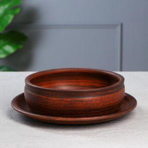 Горшок для кактусов и суккулентов «Бонсайница», ? 20 см, дымленый  5153057