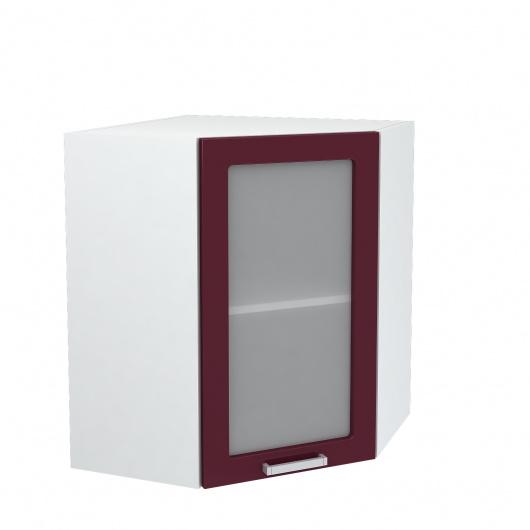 Шкаф угловой верхний со стеклом Глория ШВУС 550
