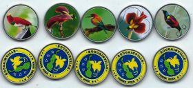 Райские птицы Набор монет  3 кина Бугенвиль (Папуа-Новая Гвинея) 2020 (5 монет)