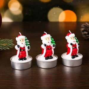 """Свеча новогодняя """"Дед мороз с ёлкой"""", 4?6 см, цена за 1 штуку 4385138"""