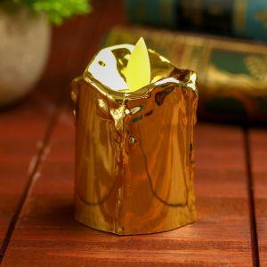 Свеча светодиодная «Блеск», горит жёлтым, цвет золотой