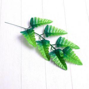 Лист искусственный, 7 листочков, 40 ? 17 см