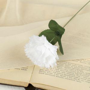 """Цветок искусственный """"Белая гвоздика"""""""