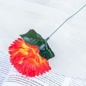 """Цветок искусственный """"Оранжевая гвоздика"""""""