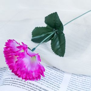 """Цветок искусственный """"Сиреневая гвоздика"""""""