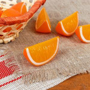 Муляж долька апельсина 5*2,5*2,3 см (цена за 1шт,фасовка по 10 шт) 2541836