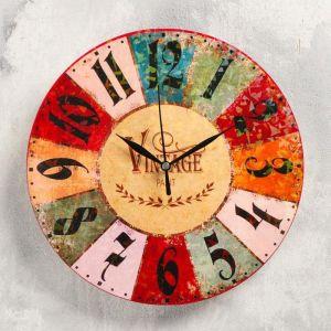 """Часы настенные """"Винтаж"""",  d-23.5. плавный ход 5233998"""
