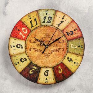 """Часы настенные """"Сицилия"""",  d- 23.5. плавный ход 5233997"""